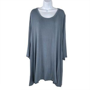 Logo Layers By Lori Goldstein Knit Top 3/4 Sleeve